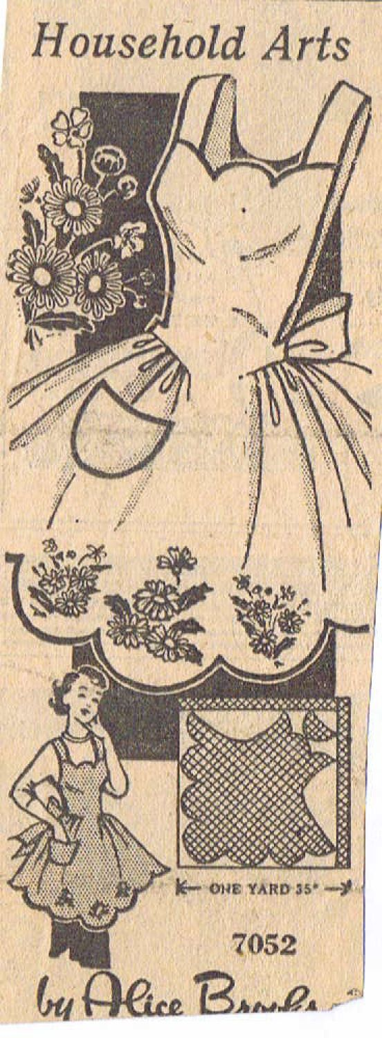 my grandmother and aunt were always clipping patterns from the newspaper and magazines (Alice Brooks 7052 très élégants)