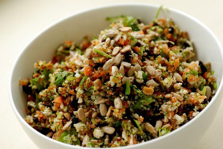 Detox Salad - Broccoli, Cauliflower with Lime and Cilantro