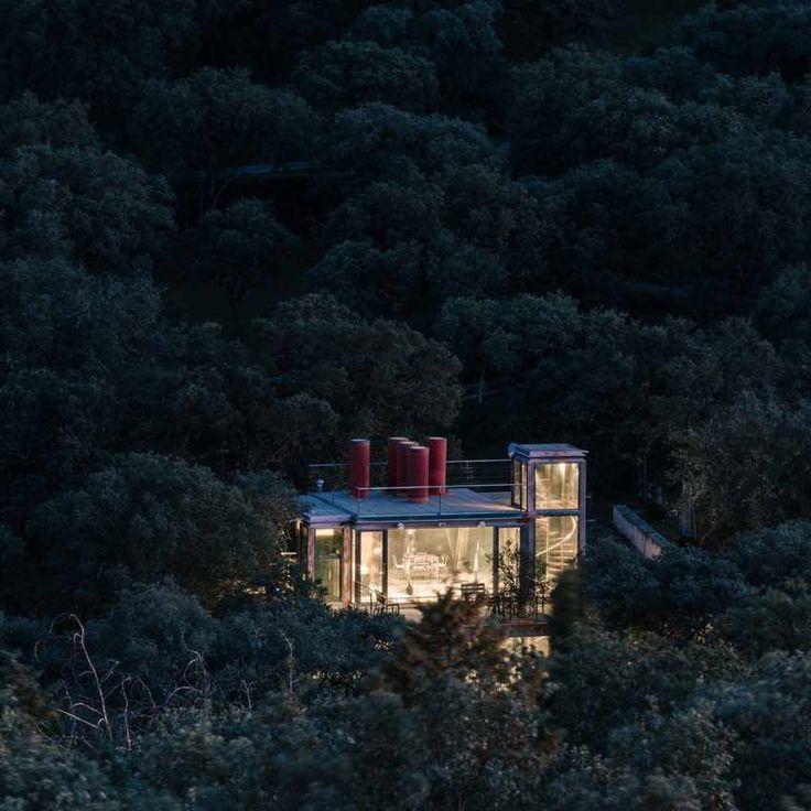Стеклянный  дом в Лас-Росасе, Испания от студии  PENELAS ARCHITECTS