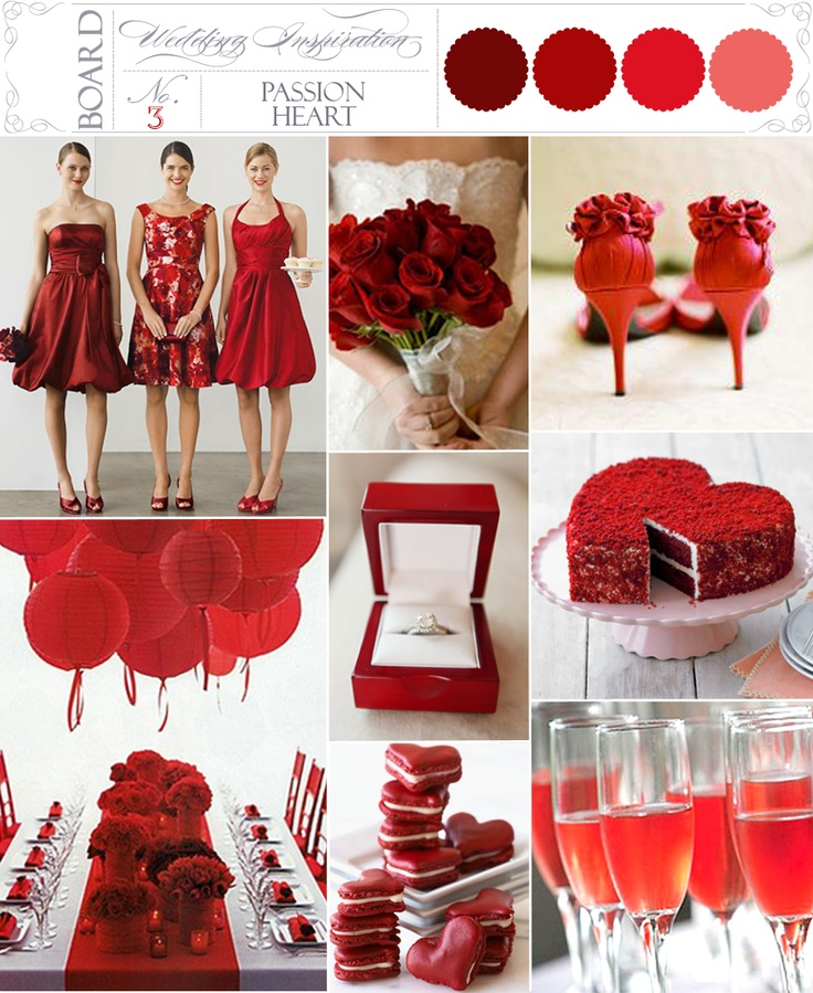 Pion Heart Red Wedding Inspiration Boards