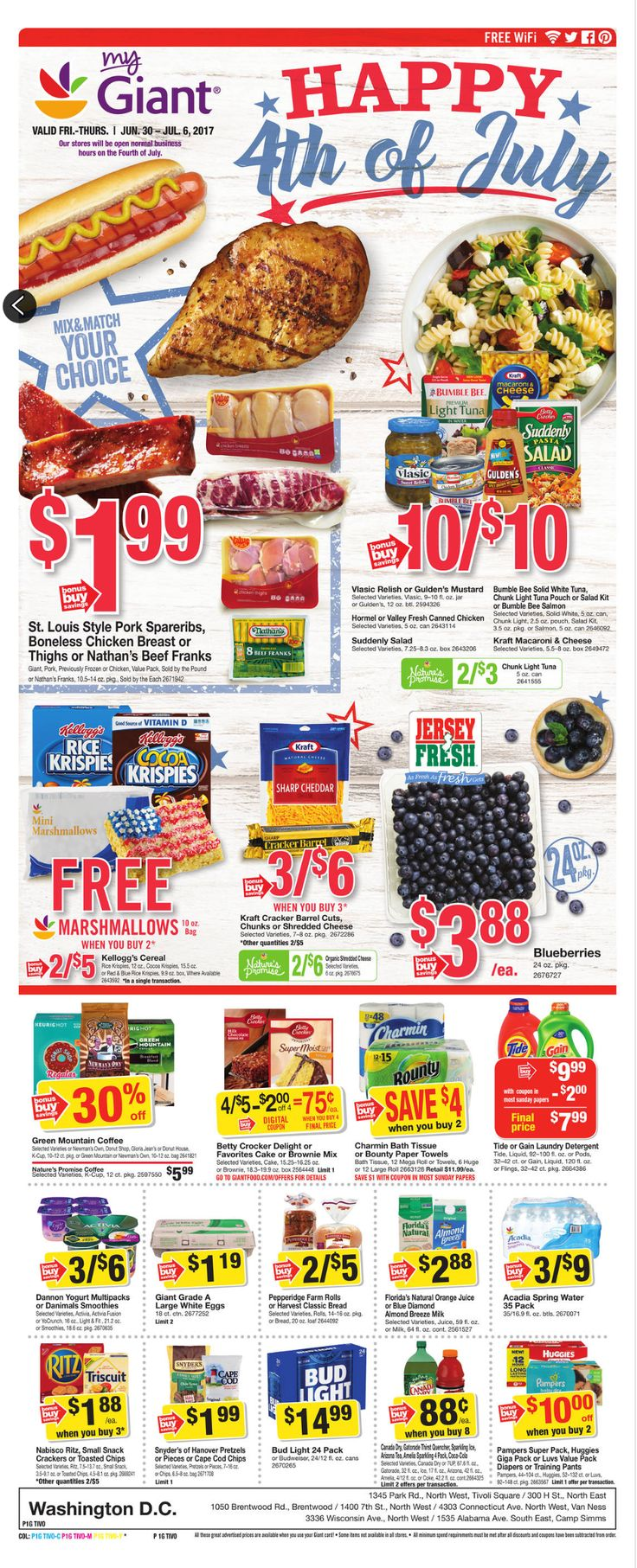 Giant Food Weekly Ad June 30 - July 6, 2017 - http://www.olcatalog.com/grocery/giant-food-weekly-ad.html
