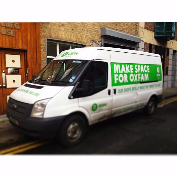 Our trusty van is available in the Dublin area Mondays (and some Wednesdays if there is a demand) to pick up any items you might want to donate to us but that you can't deliver to our shops yourself. Call 01 672 7662 to book a collection.