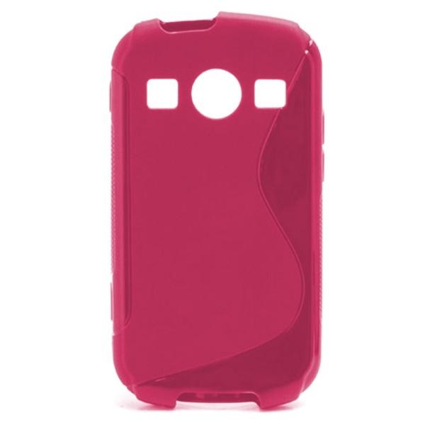 Samsung S7710 Galaxy Xcover 2 S-Curve TPU-Kotelo - Kuuma Pinkki