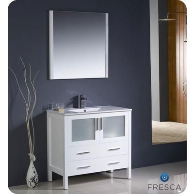 Pic On  Includes Sinck faucet mirror Fresca Torino Inch White Modern Bathroom