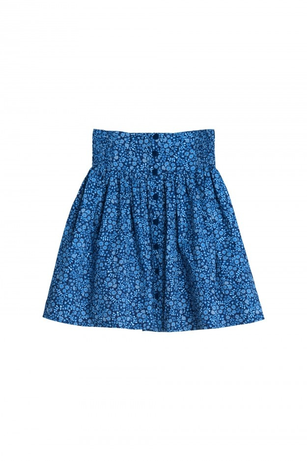 Monki blue floral skirt
