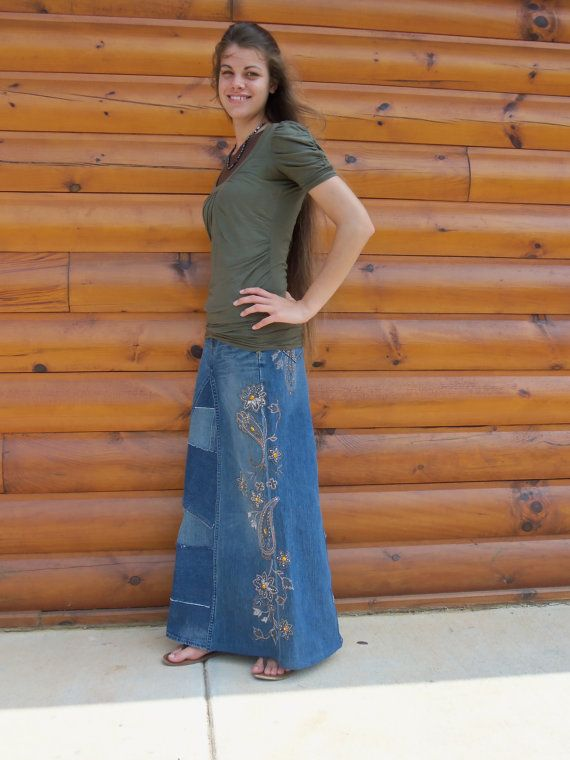 17 Best images about Long jean skirts on Pinterest | Classic, A ...