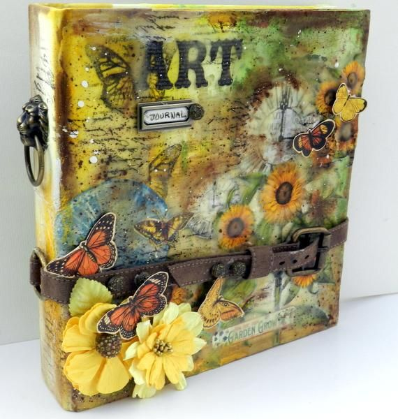 How to Make an Art Journal Cover tutorial - Snapguide with  Graphic 45 Time to Flourish Collection 12x12  & time nouveau