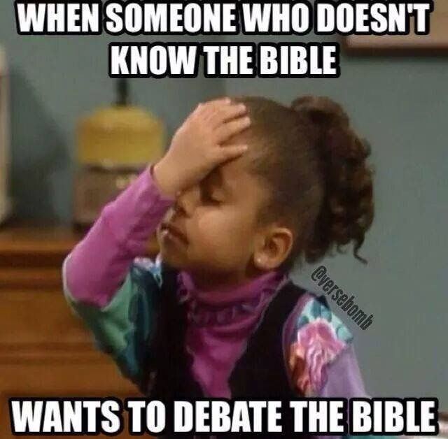Debating the Bible #Christianmemes #Christian #Memes More