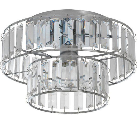 Buy heart of house gisela 2 tier chrome ceiling fitting at argos co uk