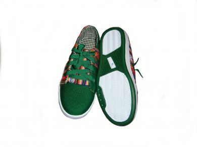 Trendy grüne #Sneaker #Sportschuhe aus peruanischem #Mantastoff.