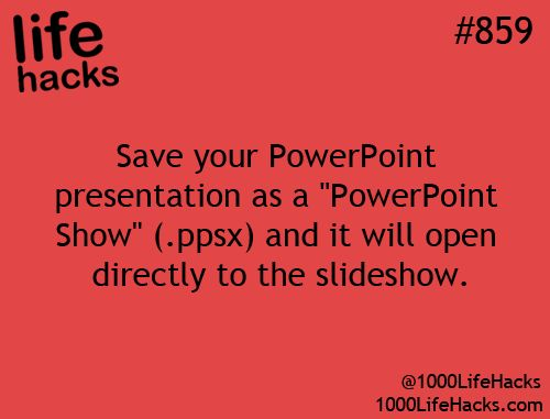 Save your powerpoint presentation as a .ppsx and it'll open directly as a slideshow