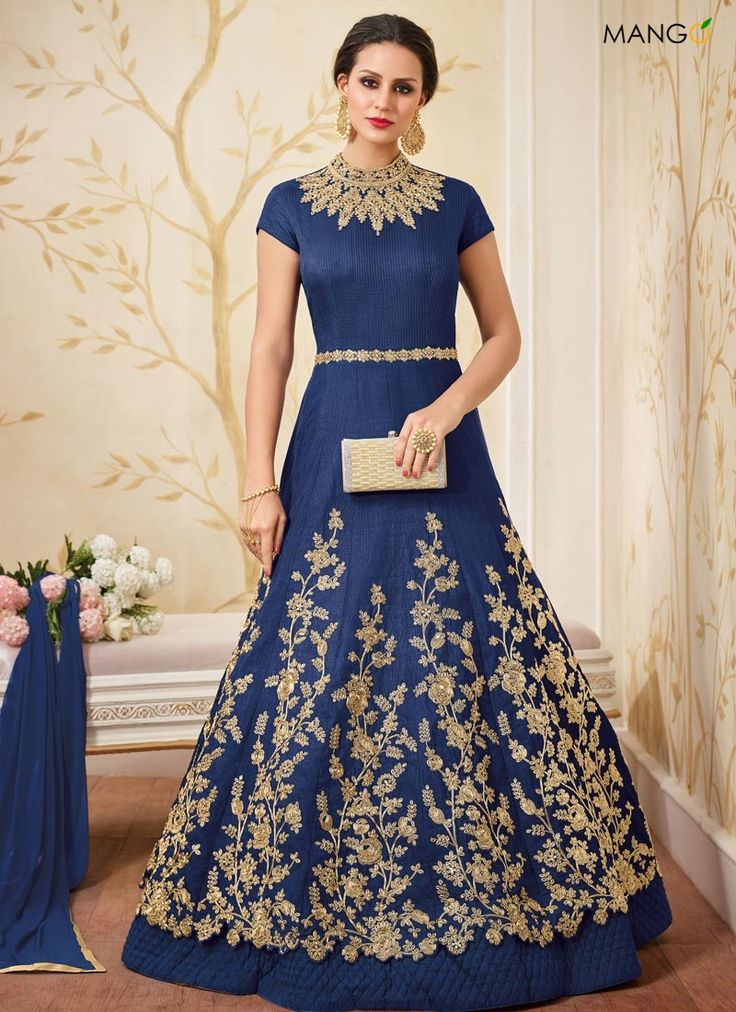 ELITE ART SILK LACE WORK DESINGER ANARKALI SUIT