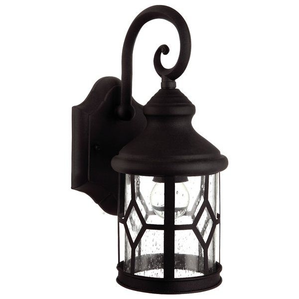 Accentuate your outdoors with the beautiful Canarm Atlanta 1 Light Outdoor Downlight. This downlight mount is made from steel, lead wire, die cast aluminum and clear seeded glass that makes it sturdy and long lasting. It has a black finish that lends a stylish appeal to the outdoor settings. This contemporary down light accommodates a 100W A size incandescent bulb that is not included. It is ideal to be fixed on damp and wet places. This contemporary down light mount is great for the front…