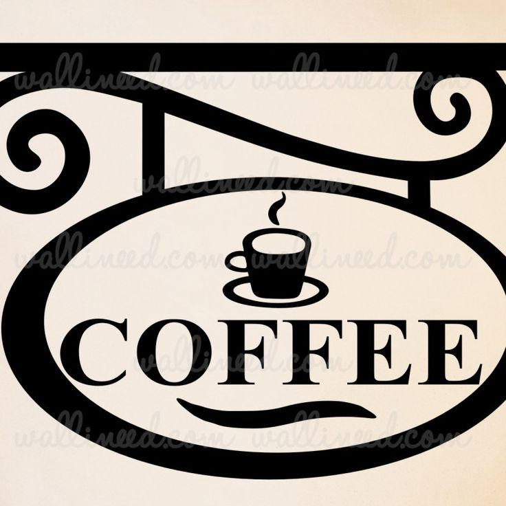 Coffee Sign – kitchen wall decal sticker art