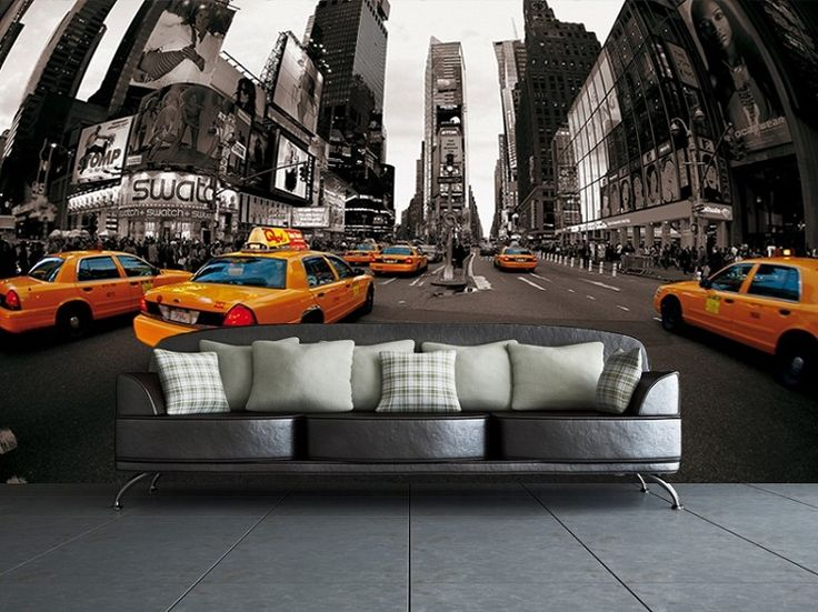 New York Taxi Cabs Wall Wallpaper Part 87