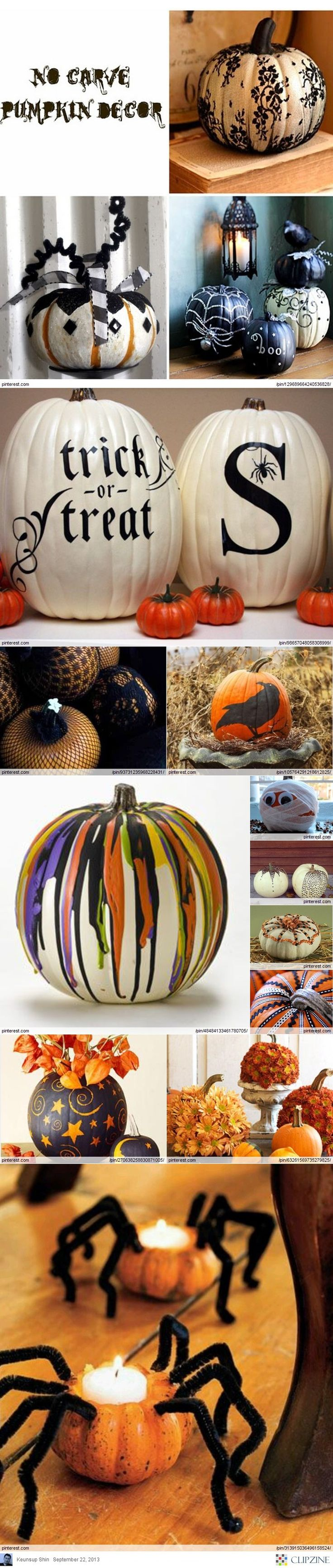 DIY No-Carve Pumpkin Ideas