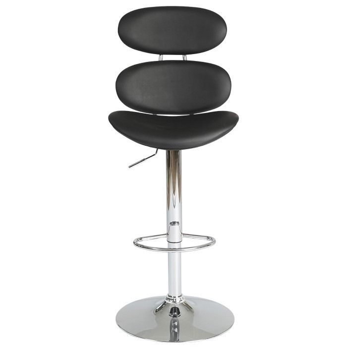 High Back Gas Lift Bar Stool Black   High Back Bar Stool. Perfect Companion  For Our Designa Bar Table, Comfortable Backs And Shaped Seats Over A  Special Gas ...