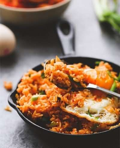 Kimchi Fried Rice - Halal Chinese Food Recipe