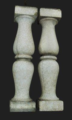 Antique terra cotta balusters