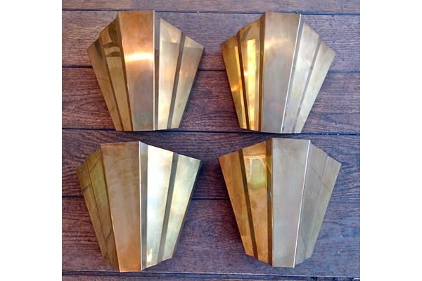 1920s Brass Wall Sconces