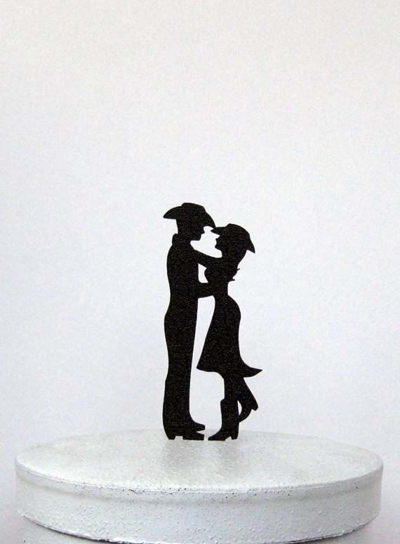 Wedding Cake Topper  Country & Western wedding 2 by Plasticsmith