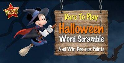 Disney Movie Rewards – 25 Points for Halloween