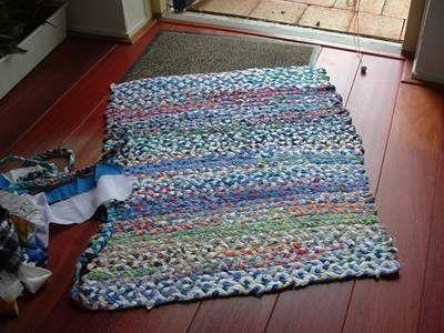 Stoffreste Teppich Flechten Weaving Pinterest Weaving Crochet
