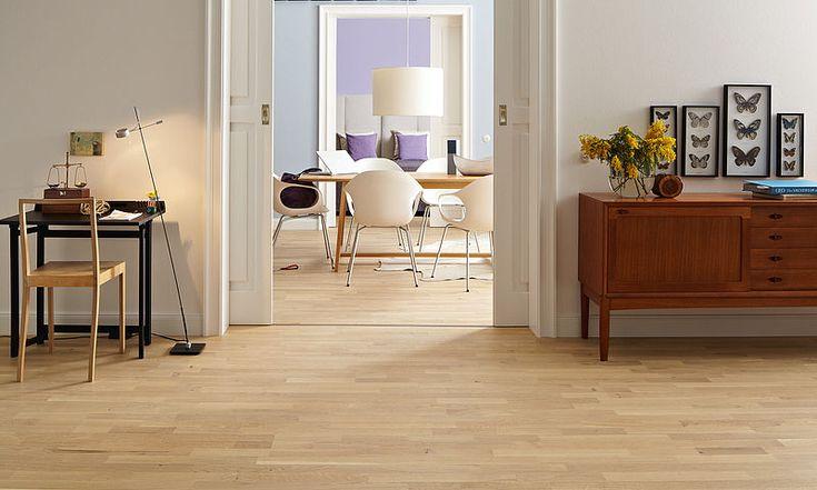 Parquet PC 300 | aceitado UV #Decoración de sala con #suelos de #parquet marca #Meister       #designehome #diseño #hogar