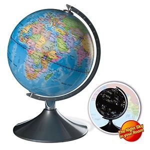 Interactive Globe for Kids, 2 in 1, Day View World Globe and Night View Map