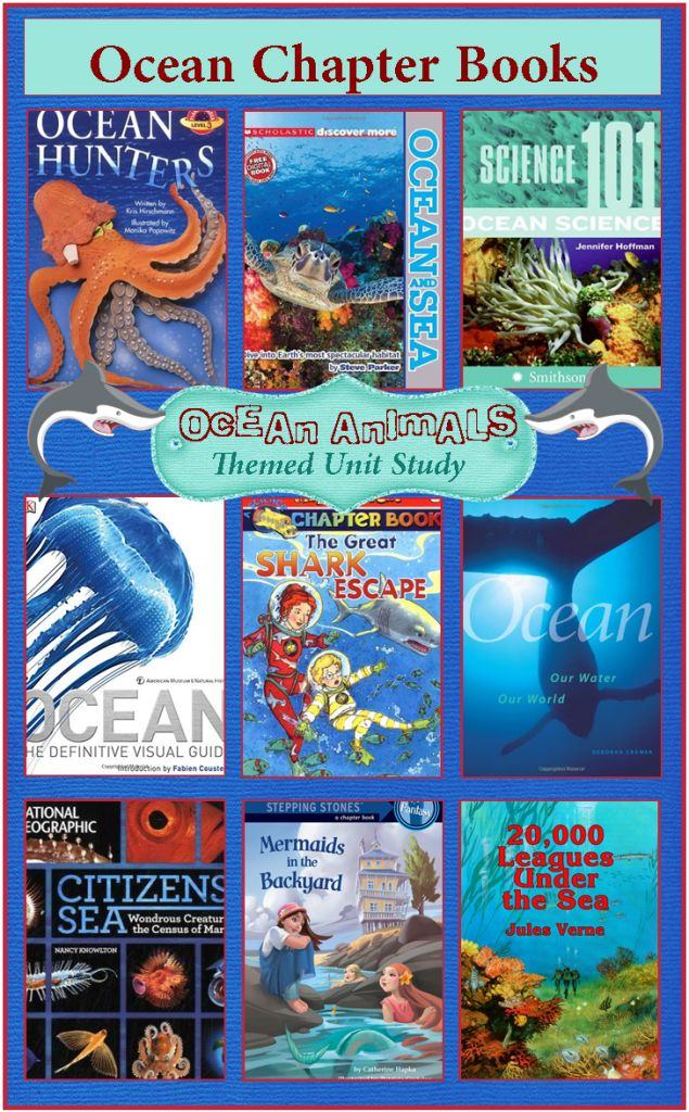 Ocean Chapter Books Ocean Animals Unit Study Reading