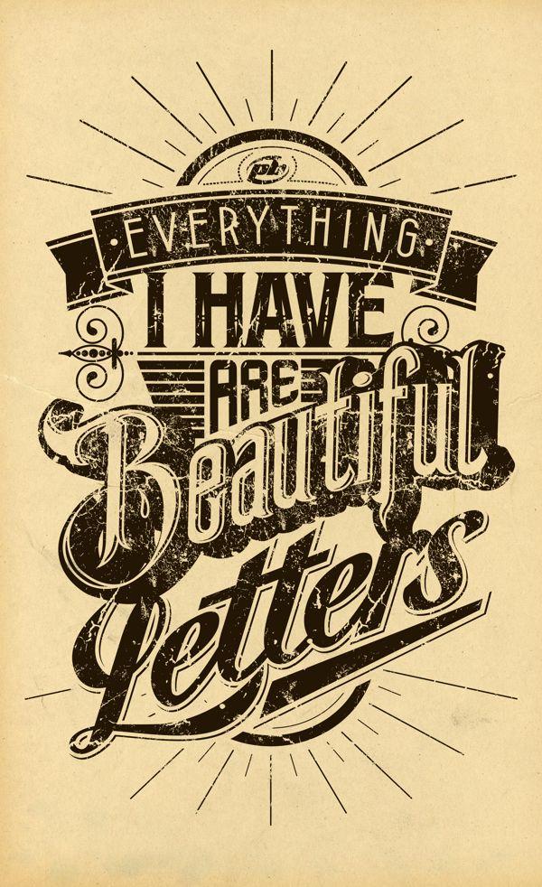 betype:  Vintage Letters by Petter Bielous.
