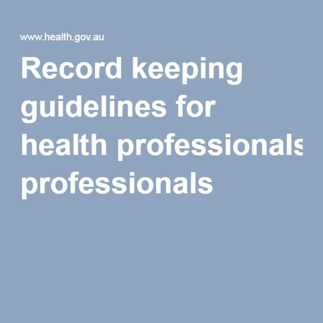 Record keeping guidelines for health professionals: This article gives 10 simple tips that may be beneficial in establishing and maintaining an effective administrative record keeping system. The benefits of maintaining accurate, reliable and useable records can help to increase the efficiency and effectiveness of the practice business. It will ensure your practice is able to access information when required and meet all accountability and compliance business requirements.