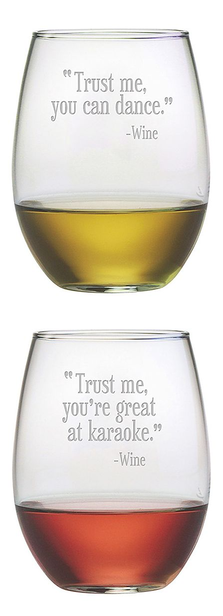 Trust me, you're great at karaoke... Trust me, you can dance. - Wine #product_design