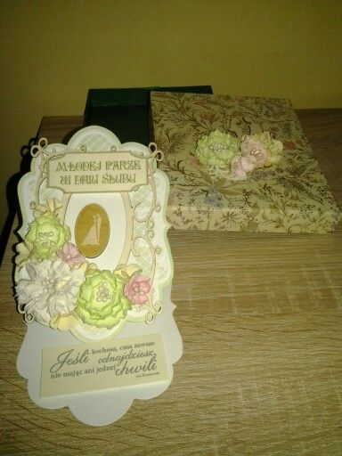 Wedding card with craftfun