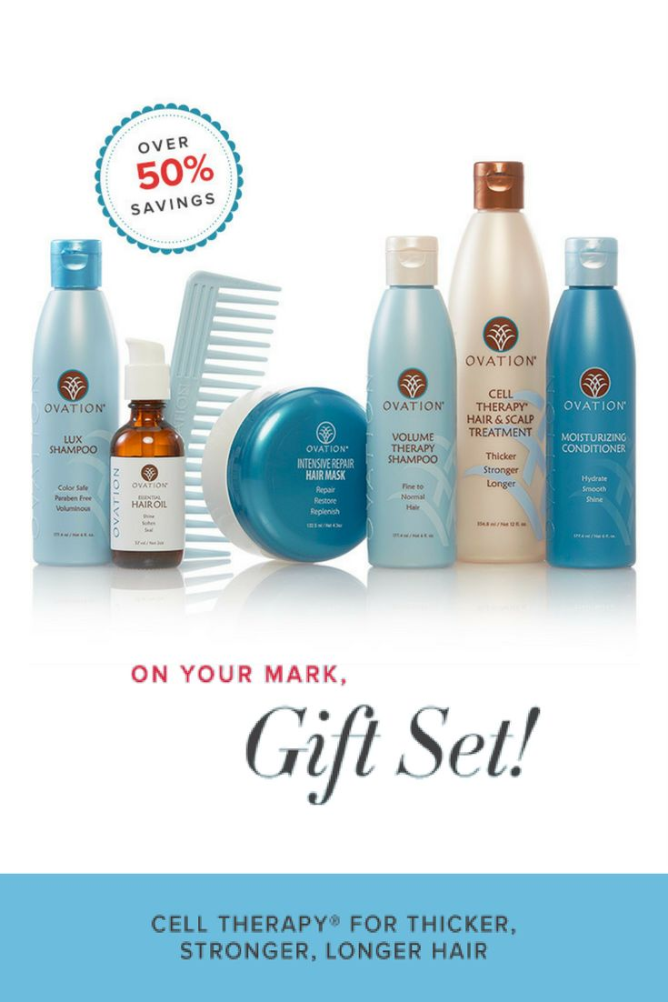 The Balance Holiday Gift Set includes: 12oz Cell Therapy Hair & Scalp Treatment, 6oz Volume Therapy Shampoo, 6oz Moisturizing Conditioner, 6oz Lux Shampoo, 4.3oz Intensive Repair Hair Mask, 2oz Essential Hair Oil plus a Wide Tooth Comb.