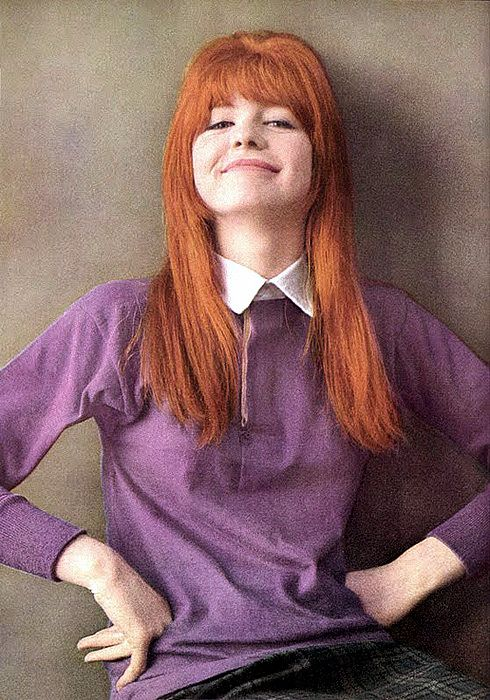 Circa Spring 1964 - Jane Asher, 18 years old, photographed by David Bailey for UK Vogue's Sept. 15, 1964 issue (also the July 1964 issue of American Vogue) as one of the British Beauties influencing good looks around the world.