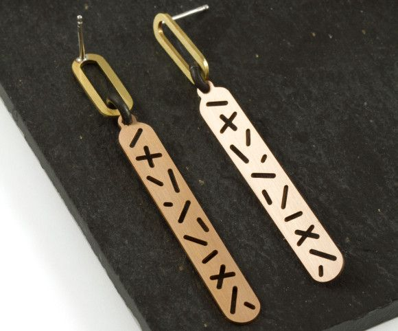 Minimal and graphic earrings. Camillette Jewelry