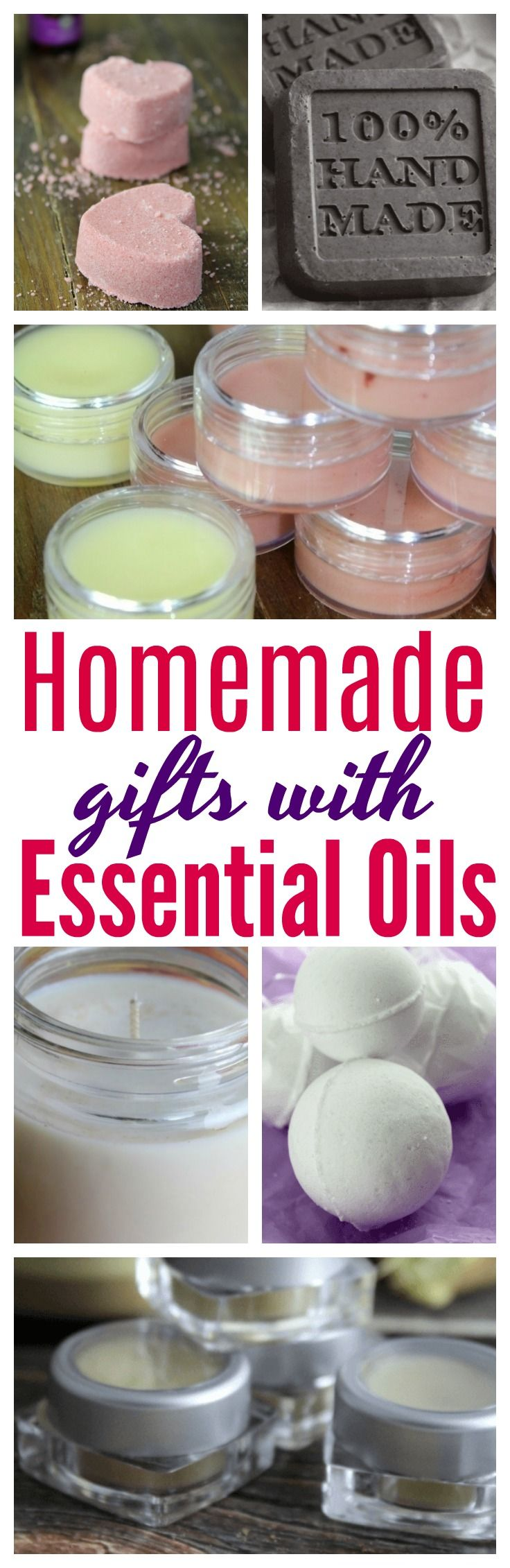 Gift giving to family and friends? Here are 10 homemade Items you can give that are made with essential oils! #DIY | #EssentialOils | #Gifts