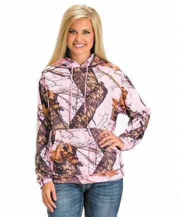 Pink mossy oak hoodie