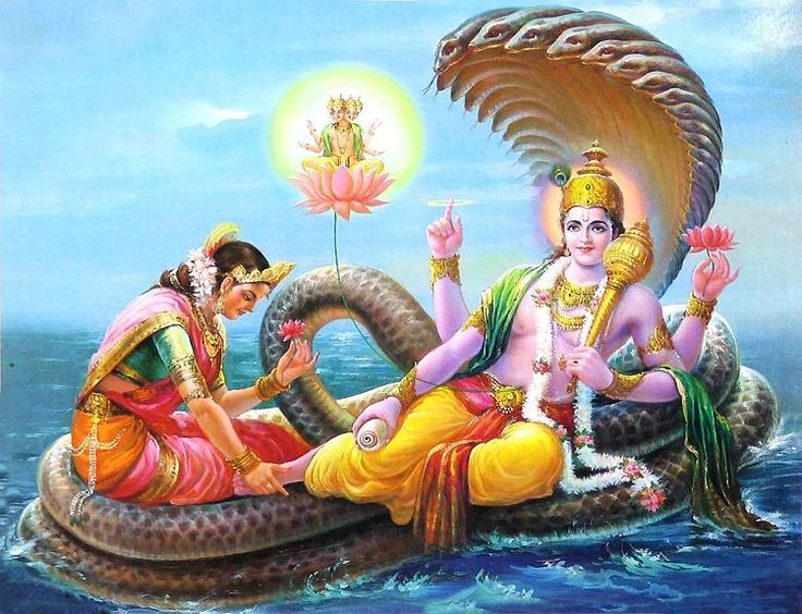 within the hindu trinity of Brahma, Vishnu and Shiva,  Brahma is the creator, Vishnu the preserver and Shiva the destroyer.