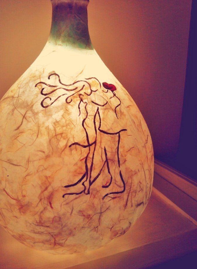 Lampada damigiana MoonRise tango 12 Adornos Design, by Adornos Gioielleria Artistica, 39,00 € su misshobby.com