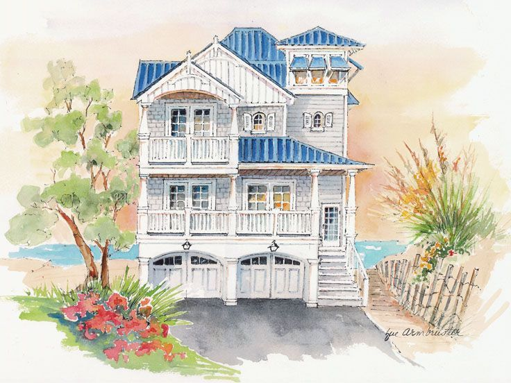 041h 0138 beach house plan with 2 master suites - Beach Home Plans