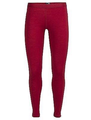 Large, Oxblood/Oxblood/Rocket, Icebreaker Women's Oasis Base Layer Leggings