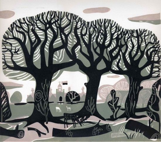 Lino prints of Knole - Melvyn Evans