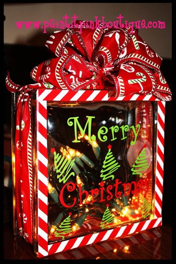 Glass Block Christmas Decoration Ideas ...