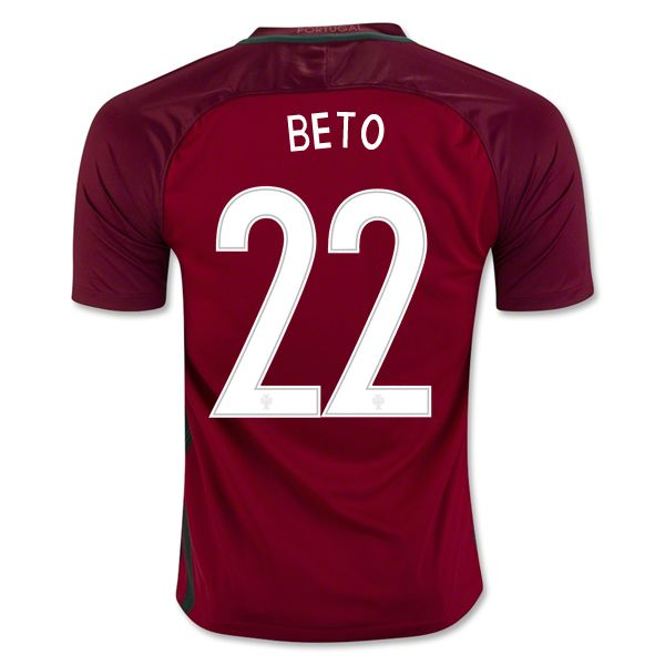 Beto 22 2018 World Cup Portugal Home Soccer Jersey