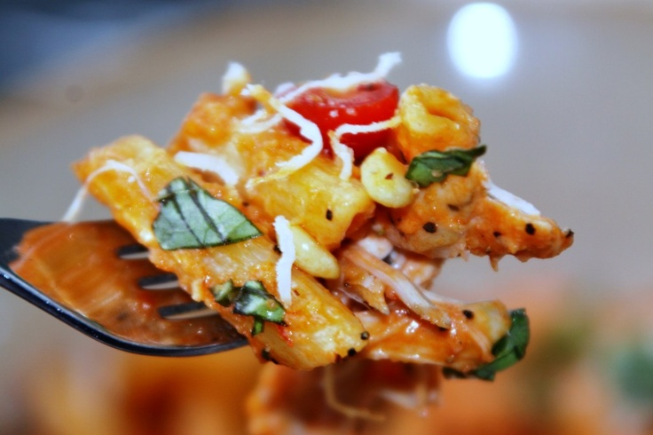 Roasted Red Pepper and Basil Pesto Penne | Tummy Yummies | Pinterest