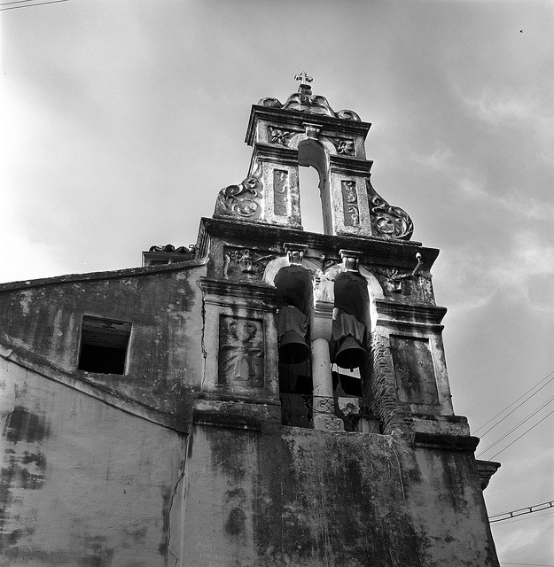 corfu, greece  may 1959    church bell tower