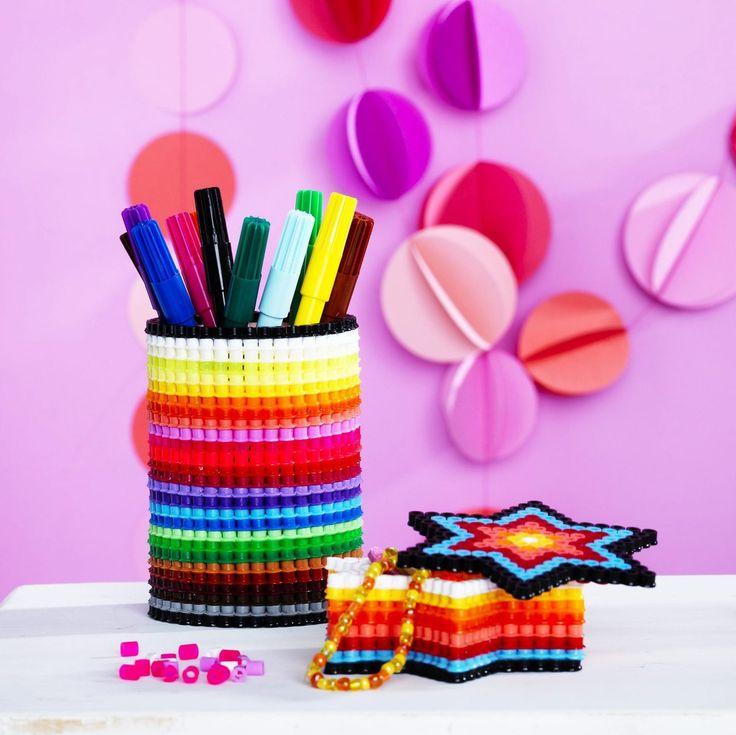 Stiftebecher aus Bügelperlen/Hama Perlen