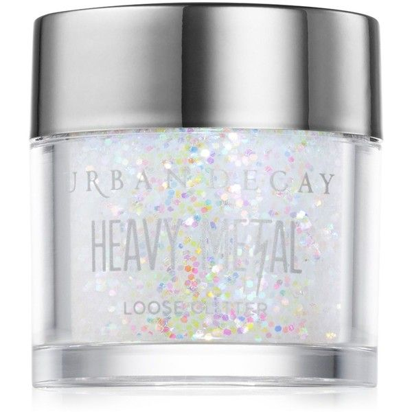 Urban Decay Heavy Metal Loose Glitter ($12) ❤ liked on Polyvore featuring beauty products, makeup, eye makeup, eyeshadow, beauty, eyes, pyrotechnics, glitter eye shadow, heavy eye makeup and glitter eye makeup